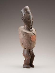 A late 19th- or early-20th-century sculpture by a Teke artist in Congo.